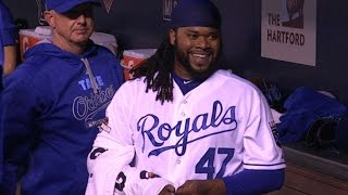 HOU@KC Gm5: Cueto retires final 19 batters he faces