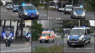 Großeinsatz der Polizei beim Fußballspiel Darmstadt 98 gegen St. Pauli [Nur Einsatzfahrten - 11min]