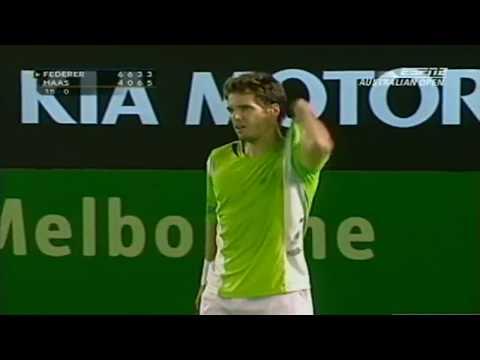 60FPS Roger Federer - Tommy Haas Australian Open 2006