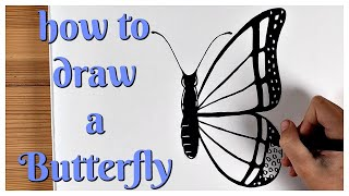 How to draw a butterfly step by step / Speed Drawing / Ingrid Surprise Art #37