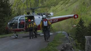 Download Video Last rescue training for the Alouette III HB-XOF. Lauterbrunnen 17th May 2014 MP3 3GP MP4