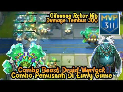 REKOR DAMAGE TERBESAR DI SQUAD CLASH !! Combo Beast Warlock - Chess Rush Indonesia