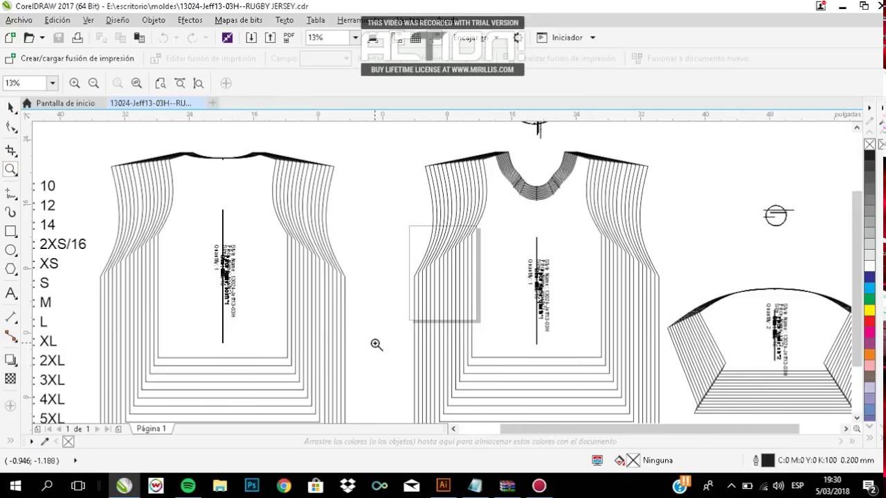 patrones de ropa para sublimacion pdf compatible con illustrator ...