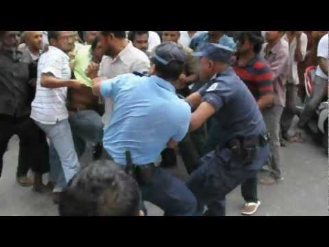 Police brutality against MDP - Maldives