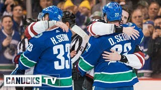 Henrik and Daniel Sedin Celebrated for the Final Time at Rogers Arena (Apr. 05, 2018)