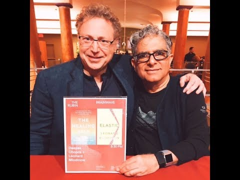 Deepak Chopra meets with theoretical physicist Leonard Mlodinow at the Rubin