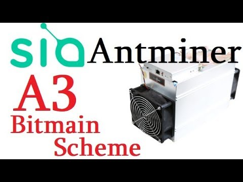 Antminer A3 Bitmain Scheme - Bitmain Mining Siacoin With Your Miners
