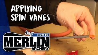 Merlin Archery HOW TO: No. 6 - Applying Spin Vanes