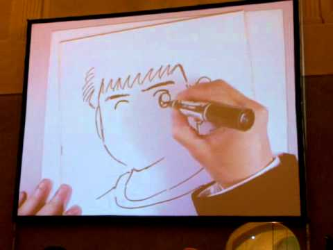 Yoichi Takahashi Autore Di Holly E Benji Disegna A Lucca Comics 2011