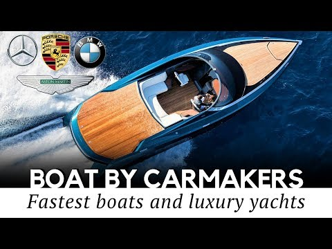 Top 10 Speed Boats and Luxury Yachts Designed by Popular Car Makers