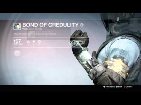 Destiny: The Taken King - Bond of Creduality (Warlock Bond) Information Tree & Appearance Demo