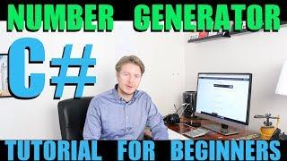 Create Random Number Generator With C# Using Visual Studio 2018