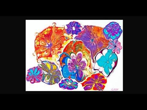 Fluid Acrylics A New Tool To Create Tropical Flowers  #3735-11.14.18