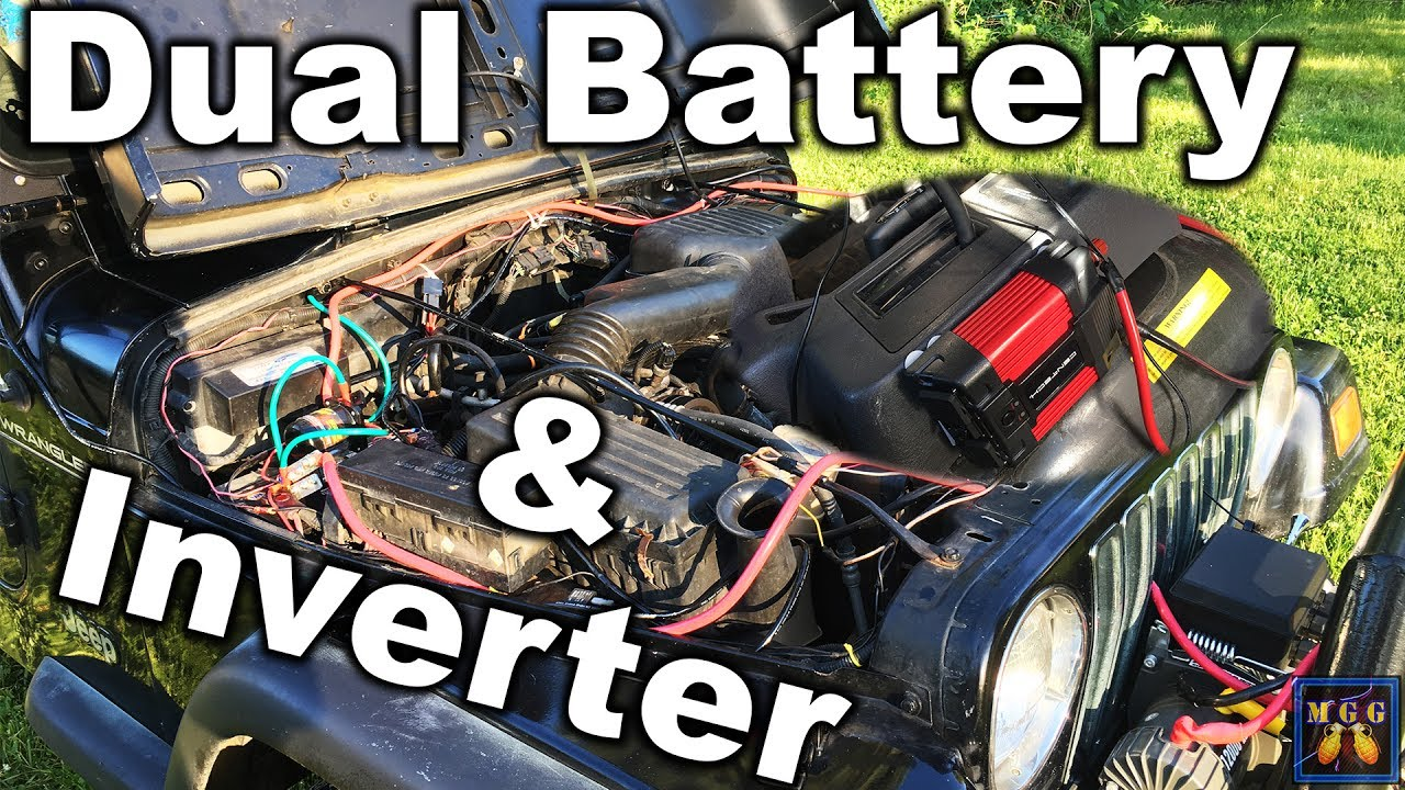 How to Wire a Dual Battery and Power Inverter Setup  YouTube