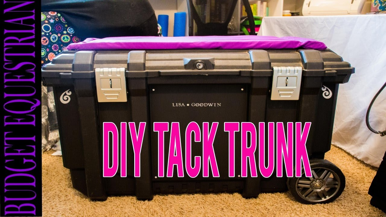 How To Make Your Own Tack Trunk Youtube