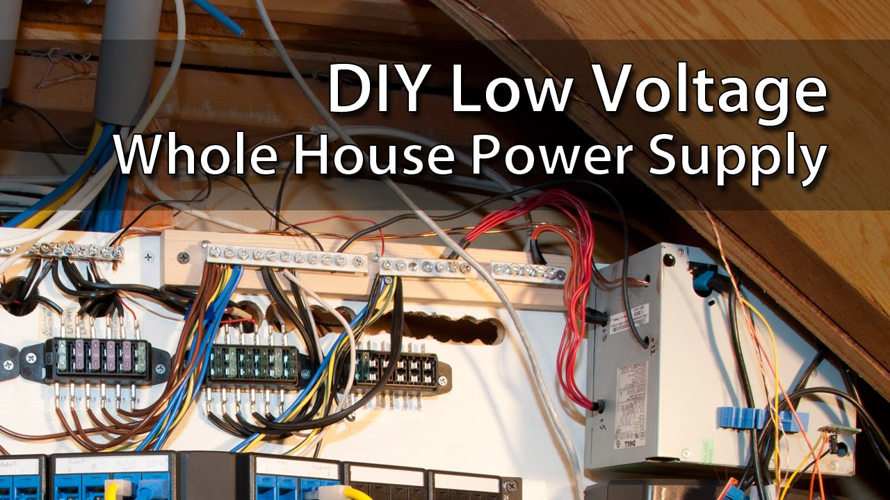 diy low voltage whole house power supply youtube rh youtube com wiring a house for low voltage lighting electrical wiring home low voltage switches