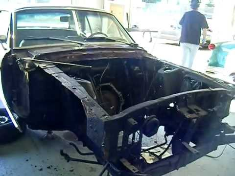 1968 Mustang Coupe Front Clip Cut Youtube