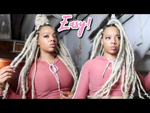 613 Faux Locs Quick Method WCurly Ends VERY DETAILED