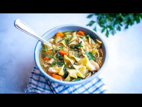 CHICKEN NOODLE SOUP! Easy Winter Recipes!