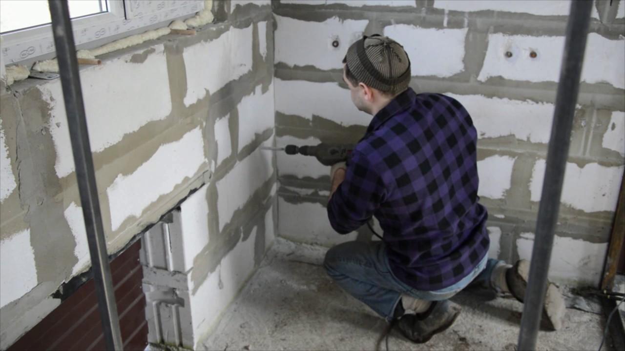 как усилить стену из пеноблоков