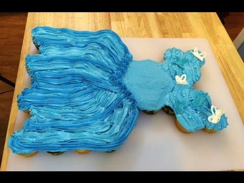 Wedding Dress Cupcake Cake 24 Simple Cinderella Movie Ball Gown