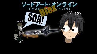 Roblox Adventures TEACHING SAO NOOB HOW TO PLAY SWORD BLOX ONLINE Part 1
