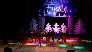 Jingle Bells (Russian).Kids Show by Алина Батекина. AllStars Fiesta 2014