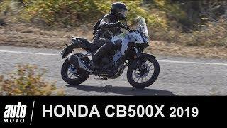 2019 HONDA CB500X Essai du TRAIL pour PERMIS A2 Auto-Moto.com