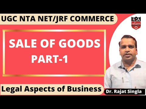 Sales of Goods Act | Legal Aspects | (Part-1) UGC NET June 2