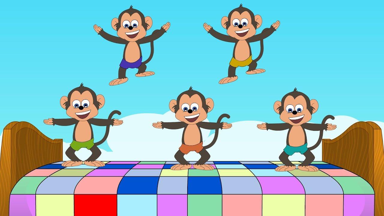 five little monkeys | nursery song - youtube
