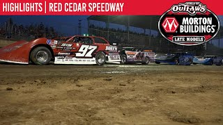 World of Outlaws Morton Building Late Models at Red Cedar Speedway July 18, 2021 | HIGHLIGHTS