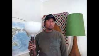 How To Convert An Old Or Vintage Floor Lamp With Diffuser To Be Used With A New Lamp Shades