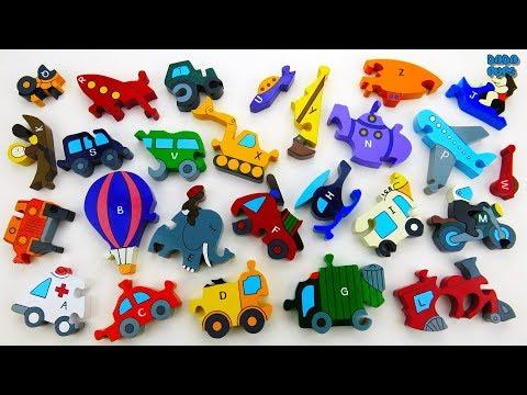 Transport Alphabet|ABC For Kids|ABC Cars & Transport|ABC Song|Alphabet with Transport Vehicles Name