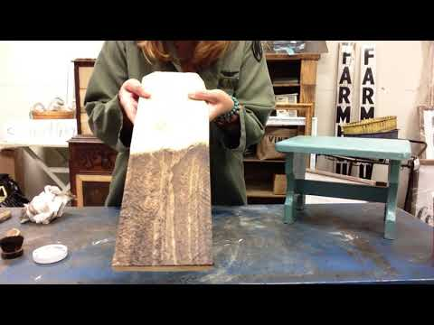 Staining wood with DIY wax