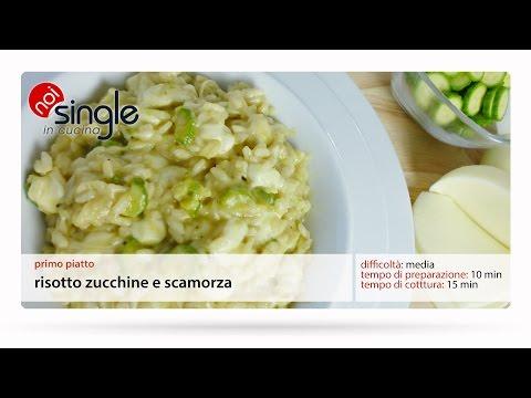 Risotto zucchine e scamorza