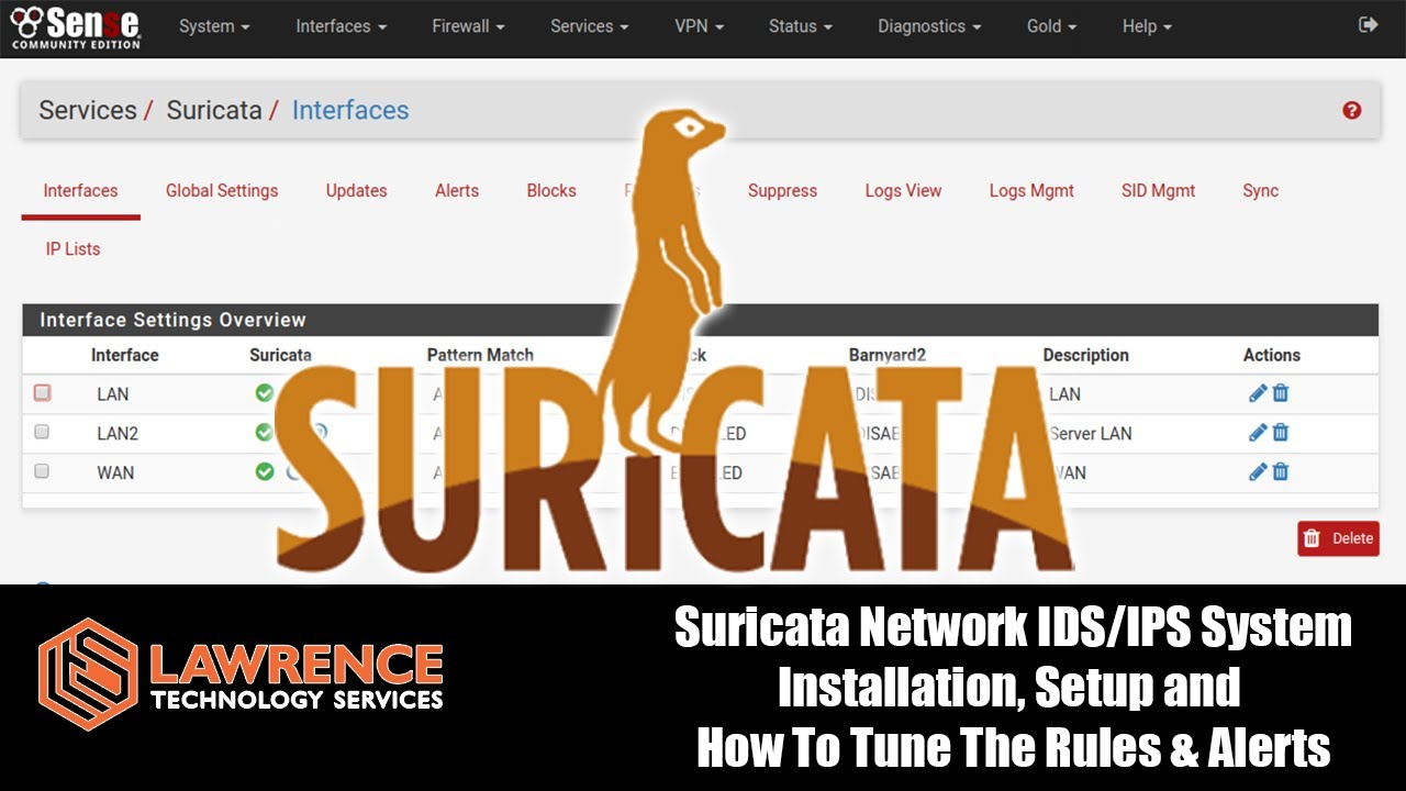 Suricata Network IDS/IPS System Installation, Setup and How To Tune The  Rules & Alerts on pfSense