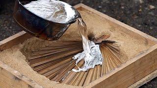 литье алюминия в песок  Homemade melted aluminum(Заработать на YouTube подключив партнерку http://join.air.io/leshaone Канал https://www.youtube.com/c/leshanavolvo Группа ВК http://vk.com/kulibincom..., 2014-12-03T16:42:45.000Z)