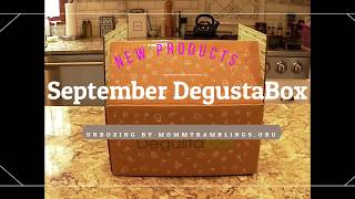 September 2018 DegustaBox Unboxing
