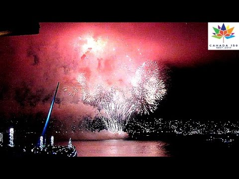 Canada 150 Vancouver Fireworks New Year's Eve Countdown