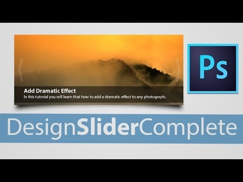 How to Design a Slider for Website in Photoshop CC