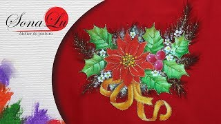 Flor de Natal em Tecido Vermelho