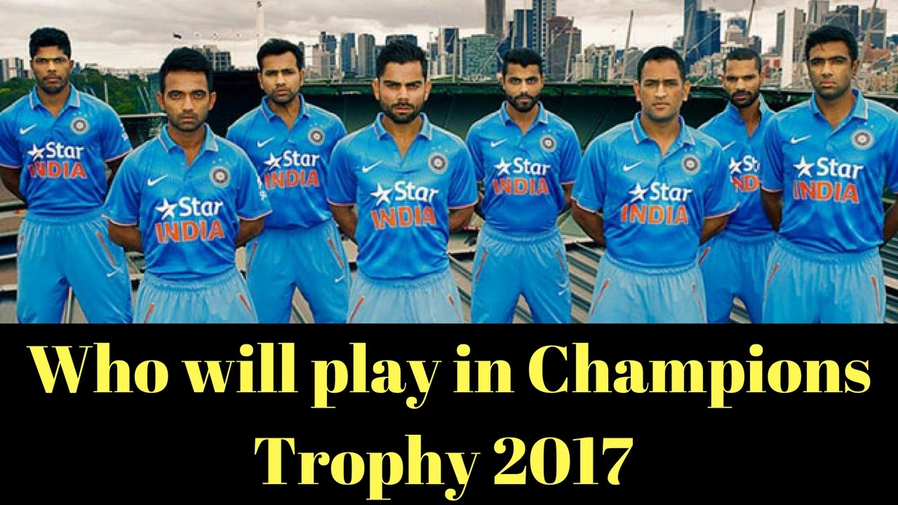 ICC Champions Trophy 2017 India Probable Squad