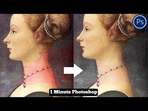1 Minute Photoshop - Remove Any Stain Easily