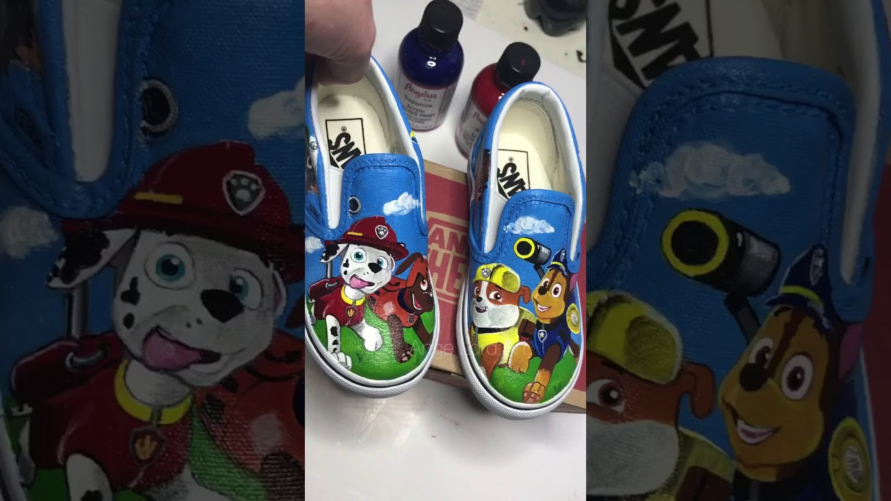 4853cb2e543ad0 Paw Patrol inspired kids Vans   kids sneakers   kids shoes - YouTube