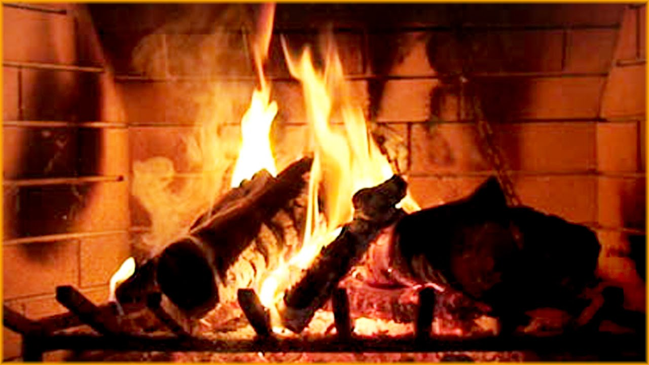 Burning fireplace video 3 hours relaxing crackling - Put out fire in fireplace ...