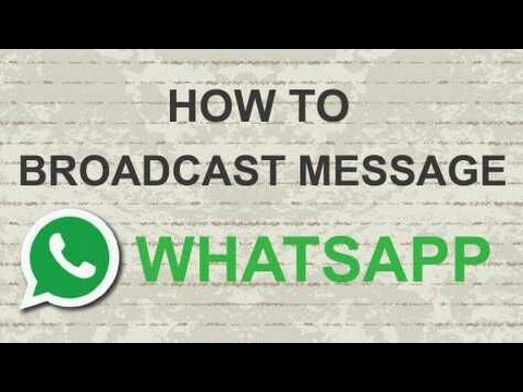 How to Create Whatsapp Broadcasting Group/List
