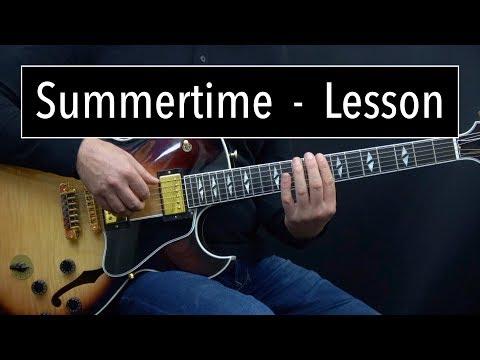 Summertime Lesson - Easy & Advanced Jazz Guitar Lesson by Achim Kohl