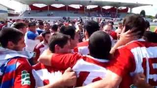 La joie des joueurs après la victoire - 15 juin 2014