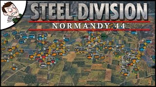 Epic New RTS! 10 v 10 Steel Division: Normandy 44 Beta Multiplayer Gameplay