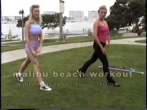 malibu beach workout-30mn brenna tone with weights